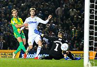 Leeds United's Patrick Bamford scores his side's second goal <br /> <br /> Photographer Alex Dodd/CameraSport<br /> <br /> The EFL Sky Bet Championship - Leeds United v West Bromwich Albion - Friday 1st March 2019 - Elland Road - Leeds<br /> <br /> World Copyright © 2019 CameraSport. All rights reserved. 43 Linden Ave. Countesthorpe. Leicester. England. LE8 5PG - Tel: +44 (0) 116 277 4147 - admin@camerasport.com - www.camerasport.com