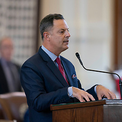 The Texas House debating SB 7 late into the night  a controversial omnibus elections bill that would make changes to the way Texas elections are held.  State Rep. Rafael Anchia, D-Dallas, leads a challenge of bill from the back microphone.