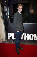 John Heffernan  at the Cyrano de Bergerac Press Night. Playhouse Theatre Northumberland Avenue. London 06.12.19
