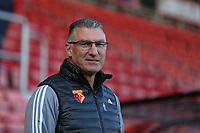 Football - 2019 / 2020 Premier League - AFC Bournemouth vs. Watford<br /> <br /> Watford Head Coach Nigel Pearson before kick off at the Vitality Stadium (Dean Court) Bournemouth <br /> <br /> COLORSPORT/SHAUN BOGGUST