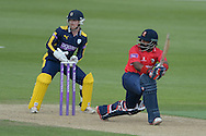 Essex all-rounder Ashar Zaidi batting during the Royal London One Day Cup match between Hampshire County Cricket Club and Essex County Cricket Club at the Ageas Bowl, Southampton, United Kingdom on 5 June 2016. Photo by David Vokes.