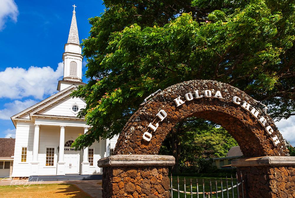 The Old Koloa Church, Koloa, Island of Kauai, Hawaii USA
