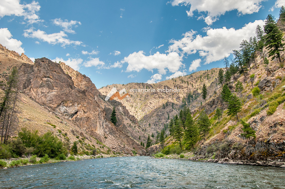 Scenic, entering the canyon, Middle Fork of the Salmon River, Idaho.
