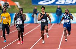 vrnl Churandy Martina, Riq de Wit, Taymir Burnet win the 200m section during the Dutch Athletics Championships (NK) on the athletics track Maarschalkerweerd on 30 August 2020 in Utrecht.