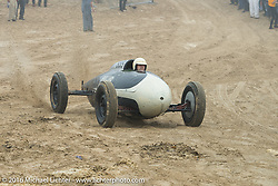 Mike Barillo riding onto the beach in his 1934 Ford Roadster  at TROG West - The Race of Gentlemen. Pismo Beach, CA, USA. Saturday October 15, 2016. Photography ©2016 Michael Lichter.