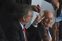 20120318: BRASILIA, BRAZIL – FIFA President Joseph Blatter, aka Sepp, visit to Brazil to discuss 2014 World Cup. In picture during lunch with Marco Maia Deputy 's  chamber President and Brazilian Sports Minister Aldo Rebelo<br /> PHOTO: CITYFILES