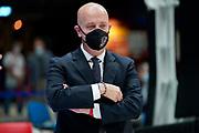 Menetti Massimiliano<br /> AX Armani Exchange Milano De Longhi Treviso<br /> Legabasket Serie A UnipolSAI 2020/2021<br /> Milano, 04/10/2020<br /> Foto A.Giberti / Ciamillo-Castoria