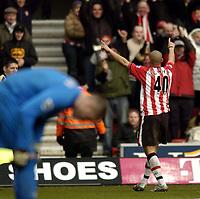 Fotball<br /> Premier League 2004/05<br /> Southampton v Tottenham<br /> 5. mars 2005<br /> Foto: Digitalsport<br /> NORWAY ONLY<br /> Southampton's Nigel Quashie celebrates his goal