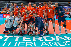 09-08-2019 NED: FIVB Tokyo Volleyball Qualification 2019 / Netherlands, - Korea, Rotterdam<br /> First match pool B in hall Ahoy between Netherlands - Korea (3-2) for one Olympic ticket / Team NL Netherlands