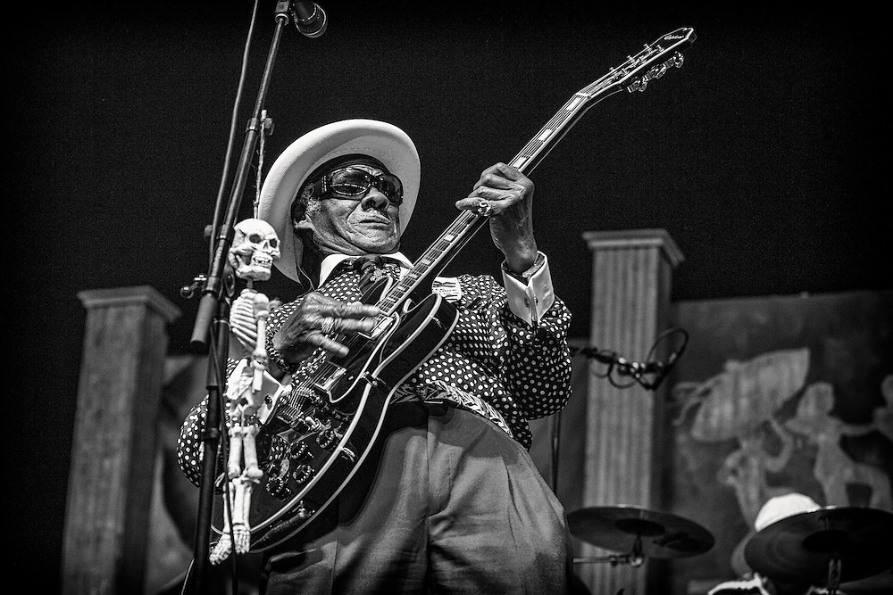 Little Freddie King performing in the Blues Tent during the 2013 New Orleans Jazz & Heritage Music Festival on April 28, 2013 in New Orleans, Louisiana. USA.