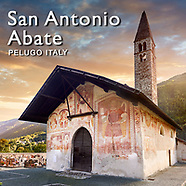 Pictures of Gothic Mural Paintings of Church San Antonio Abate Pelugo - Images Photos