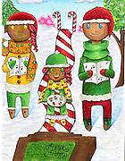 Holiday card designed by Kate Kollar of Reagan High School.