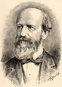 Joseph Lovering (1813-1892) American mathematician. Hollis professor of mathematics and natural philosophy, Harvard university (1838-1888), President of the American Association for the Advancement of Science (1873). Engraving from 'The Popular Science Monthly' (New York, September 1889).