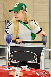 EXCLUSIVE: A make-up-free Paloma Faith touches down in Australia with her child. Paloma has not revealed her child's name or gender, but has said that she intends to bring her children up gender-neutral. 03 Apr 2018 Pictured: Paloma Faith. Photo credit: MEGA TheMegaAgency.com +1 888 505 6342