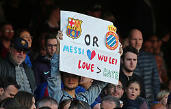 March 30, 2019 - Barcelona, Catalonia, Spain - supporter during the match between FC Barcelona and RCD Espanyol, corresponding to the week 29 of the Liga Santander, played at the Camp Nou Stadium, on 30th March 2019, in Barcelona, Spain. (Credit Image: © Joan Valls/NurPhoto via ZUMA Press)