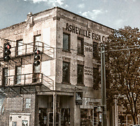 Asheville Fish Company, old building in downtown Asheville, North Carolina