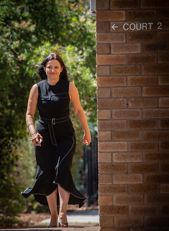 Ben Cousins' ex wife Maylea Tinecheff entering Armadale District Court today, Wednesday 28 October 2020, pic Tony McDonough
