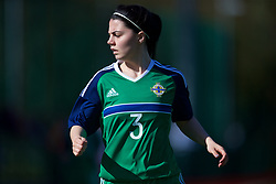YSTRAD MYNACH, WALES - Wednesday, April 5, 2017: Northern Ireland's Jessica Foy in action during the Women's International Friendly match against Wales at Ystrad Mynach. (Pic by Laura Malkin/Propaganda)