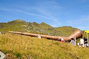 Yodel Hiking Trail second station.  Konigsleiten mountain top. Zillertal, Tyrol, Austria