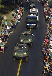 HAVANA, Nov. 30, 2016 (Xinhua) -- People line the street to bid farewell to the motorcade escorting the ashes of Cuban revolutionary leader Fidel Castro on the outskirts of Havana, capital of Cuba, on Nov. 30, 2016. On Wednesday, Fidel Castro's ashes began a three-day procession east across 13 Cuban provinces, and will be placed Sunday in Santa Ifigenia Cemetery in Santiago de Cuba, Cuba's second-largest city. (Xinhua/David de la Paz) (Credit Image: © David De La Paz/Xinhua via ZUMA Wire)