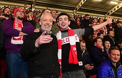 Bristol City fans cheer on their team - Mandatory by-line: Alex Davidson/JMP - 20/12/2017 - FOOTBALL - Ashton Gate Stadium - Bristol, England - Bristol City v Manchester United - Carabao Cup Quarter Final