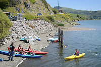 Canoeists, Russian River, Jenner, Sonoma County, California, USA. 201304292046<br /> <br /> Copyright Image from Victor Patterson, 54 Dorchester Park, Belfast, UK, BT9 6RJ<br /> <br /> Tel: +44 28 9066 1296<br /> Mob: +44 7802 353836<br /> Voicemail +44 20 8816 7153<br /> Skype: victorpattersonbelfast<br /> Email: victorpatterson@me.com<br /> Email: victorpatterson@ireland.com (back-up)<br /> <br /> IMPORTANT: If you wish to use this image or any other of my images please go to www.victorpatterson.com and click on the Terms & Conditions. Then contact me by email or phone with the reference number(s) of the image(s) concerned.