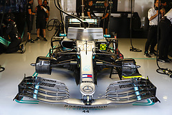 May 10, 2019 - Barcelona, Catalonia, Spain - Lewis Hamilton's F1, team Mercedes during F1 Grand Prix free practice celebrated at Circuit of Barcelona 10th May 2019 in Barcelona, Spain. (Credit Image: © Mikel Trigueros/NurPhoto via ZUMA Press)
