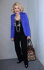 Joan Rivers at New York fashion week 12-9-12