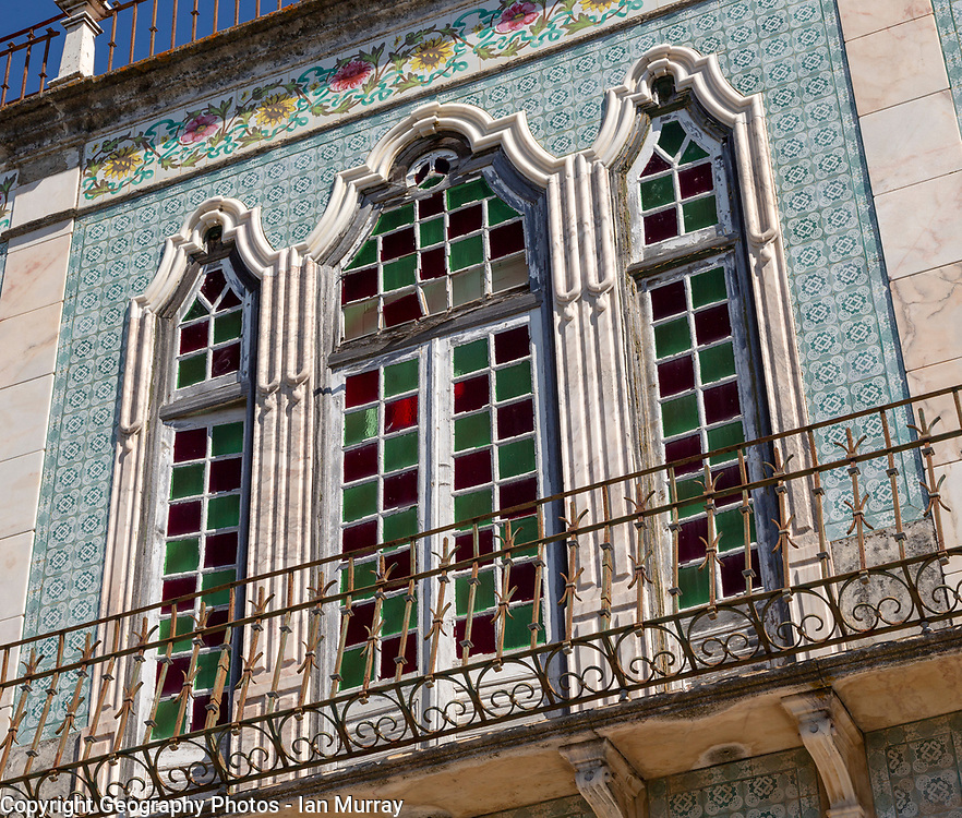 Close-up of historic old traditional Portuguese building, Castro Verde, Baixo Alentejo, Portugal, southern Europe