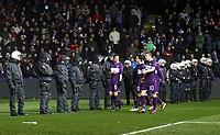 UEFA Europa League, Gruppenphase, FK Austria Wien vs Athletic Bilbao .  Bild zeigt Jacek Bak, Milenko Acimovic, Thiago Maier Santos Schumacher (A.Wien) und Polizisten. <br /> Norway only