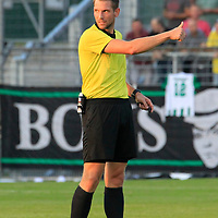 28.08.2019, Stadion Lohmühle, Luebeck, GER,  VFB Lübeck/Luebeck vs VfL Wolfsburg IIi<br /> <br /> DFB REGULATIONS PROHIBIT ANY USE OF PHOTOGRAPHS AS IMAGE SEQUENCES AND/OR QUASI-VIDEO.<br /> <br /> im Bild / picture shows<br /> Schiedsrichter Timo Daniel<br /> <br /> Foto © nordphoto / Tauchnitz