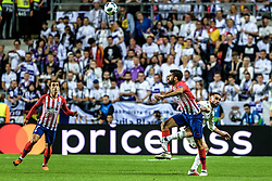 August 15, 2018 - Tallinn, Estonia - Diego Costa of Atletico Madrid on attack at UEFA Super Cup 2018 in Tallinn..The UEFA Super Cup 2018 was played between Real Madrid and Atletico Madrid. Atletico Madrid won the match 4-2 during extra time after and took the trophy after drawing at 2-2 during the first 90 minute of game play. (Credit Image: © Hendrik Osula/SOPA Images via ZUMA Wire)