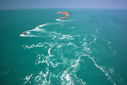 Strong tides in the Buccaneer Archipelago on the Kimberley coast.
