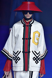 Model Anna Vivchar walks on the runway during the Gucci Fashion Show during Milan Fashion Week Spring Summer 2018 held in Milan, Italy on September 20, 2017. (Photo by Jonas Gustavsson/Sipa USA)