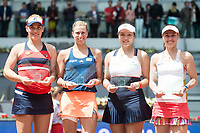 Hungarian Timea Babos, Czech Andrea Hlavackova, Taiwanese Chan Yung-jan and swiss Martina Hingis during Mutua Madrid Open Sub16 Tennis 2017 at Caja Magica in Madrid, May 13, 2017. Spain.<br /> (ALTERPHOTOS/BorjaB.Hojas)