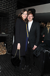 SOPHIE ELLIS-BEXTOR and RICHARD JONES at the InStyle Best of British Talent Event in association with Lancôme and Charles Worthington held at The Rooftop Restaurant, Shoreditch House, Ebor Street, E1 on 26th January 2012.