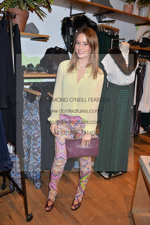 KELLY EASTWOOD at a party to celebrate the launch of Matthew Williamson: Fashion, Print and Colouring Book held at Anthropologie, 158 Regent Street, London on 8th September 2016.