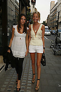 MARINA HANBURY AND LADY SOPHIA HESKETH, Party for House of Waris jewelry collection hosted by Daphne Guinness, Alice Bamford and Wes Anderson. Dover St. market. London. 8 June 2006. ONE TIME USE ONLY - DO NOT ARCHIVE  © Copyright Photograph by Dafydd Jones 66 Stockwell Park Rd. London SW9 0DA Tel 020 7733 0108 www.dafjones.com
