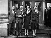 30/9/1952<br /> 9/30/1952<br /> 30 September 1952<br /> <br /> The Wedding of Mr. Richard Hughes and Miss Eileen Harvey at Rathmines Church and the Clarence Hotel