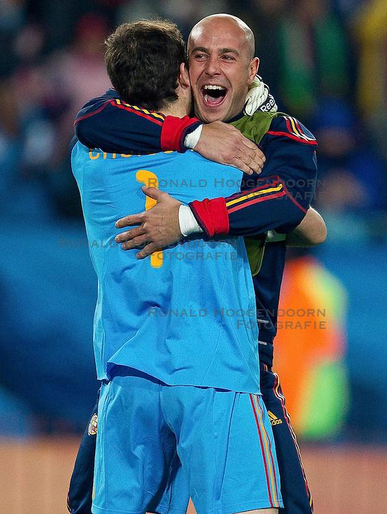 03-07-2010 VOETBAL: FIFA WORLDCUP 2010 SPANJE - PARAGUAY: JOHANNESBURG<br /> Kwartfinale WC 2010 Goalkeeper of Spain Iker Casillas <br /> ©2010-FRH- NPH/ Vid Ponikvar (Netherlands only)