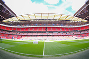 A general view inside Wembley Stadium prior to the EFL Sky Bet League 2 Play Off Final match between Newport County and Tranmere Rovers at Wembley Stadium, London, England on 25 May 2019.