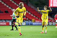 GOAL 1-1, \AFC Wimbledon striker Joe Pigott (39) during the EFL Sky Bet League 1 match between Charlton Athletic and AFC Wimbledon at The Valley, London, England on 12 December 2020.
