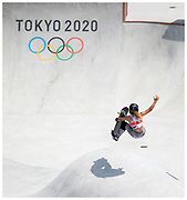 Sky Brown for Team GB in the women's skateboard park at the Tokyo 2020 Olympic Games.