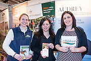 27/1/16 Niamh Griffen, Irish National Stud, Phil Donnelly and Melissa Foran, Kildare Failte at the Holiday World Show 2017 at the RDS Simmonscourt in Dublin which runs to Sunday 29th January.. Picture: Arthur Carron