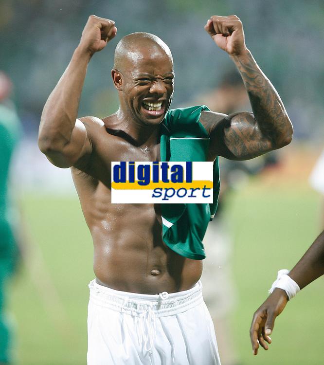 Photo: Steve Bond/Richard Lane Photography.<br /> Ghana v Nigeria. Africa Cup of Nations. 03/02/2008. Matchwinning goalscorer Junior Agogo celebrates