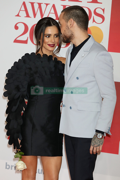 Cheryl and Liam Payne are seen arriving at the 2018 Brit Awards at the O2 in London.<br /><br />21 February 2018.<br /><br />Please byline: Vantagenews.com