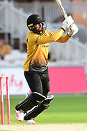 Arron Lilley of Leicestershire during the Vitality T20 Blast North Group match between Nottinghamshire County Cricket Club and Leicestershire County Cricket Club at Trent Bridge, Nottingham, United Kingdom on 4 September 2020.