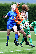 Southern United's Ruby Anderson and Central Football's Amelia Simmers compete for the ball in the National womens league football match, Central Football v Southern United, Massey University, Palmerston North, Sunday, December 02, 2018. Copyright photo: Kerry Marshall / www.photosport.nz