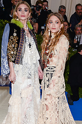 Ashley Olsen and Mary-Kate Olsen arriving at The Metropolitan Museum of Art Costume Institute Benefit celebrating the opening of Rei Kawakubo / Comme des Garcons : Art of the In-Between held at The Metropolitan Museum of Art  in New York, NY, on May 1, 2017. (Photo by Anthony Behar) *** Please Use Credit from Credit Field ***