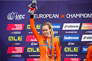 Podium, Time Trial Women 32,3 km, Anna Van Der Breggen (Netherlands) silver medal during the Road Cycling European Championships Glasgow 2018, in Glasgow City Centre and metropolitan areas Great Britain, Day 7, on August 8, 2018 - photo Luca Bettini / BettiniPhoto / ProSportsImages / DPPI<br /> - restriction - Netherlands out, Belgium out, Spain out, Italy out- photo